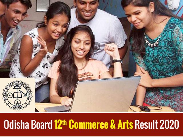 Odisha Board 12th Commerce & Arts Result 2020