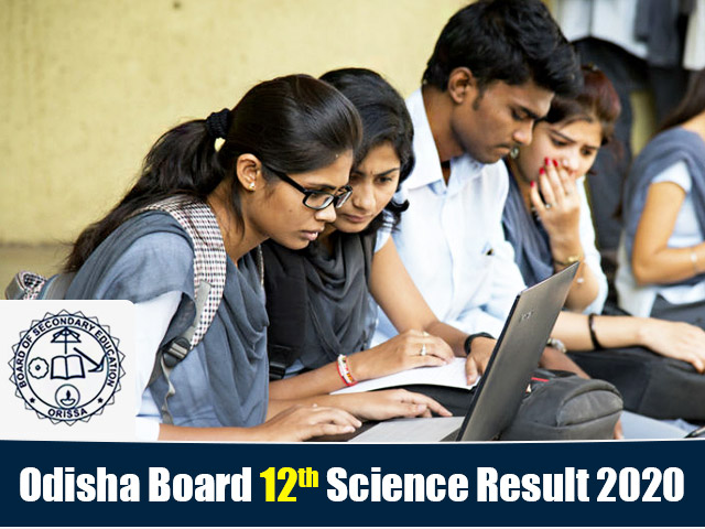 Odisha Board 12th Science Result 2020