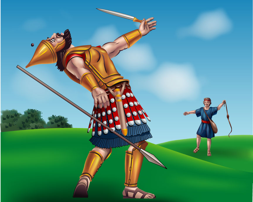 David and Goliath: A famous tale from Bible