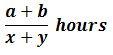 Opposite direction formula