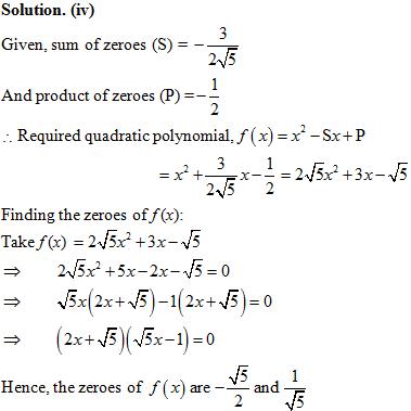 Class 10 Mathematics NCERT Exempla, NCERT Exemplar Solution