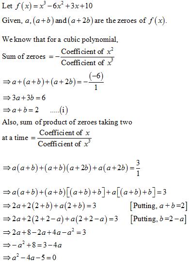 NCERT Exemplar Solution, CBSE, Class 10 NCERT Exemplar problems, Polynomials Long Questions Class 10