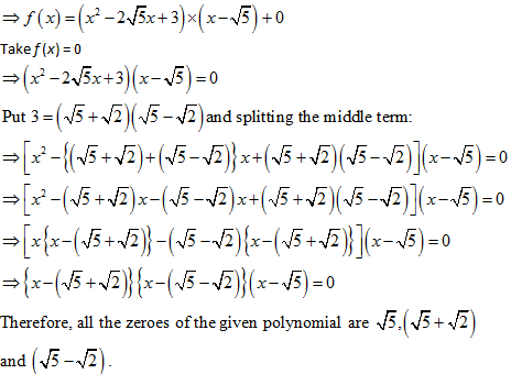 Class 10 NCERT Exemplar problems, Polynomials Long Questions Class 10, NCERT, CBSE Study Material, Polynomials Important Questions