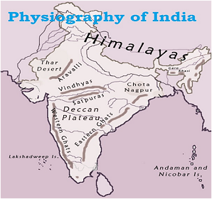 Physiography of India - Geography Study Material & Notes: A