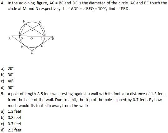 MBA Quantitative Aptitude Questions & Answers – Geometry Set-II