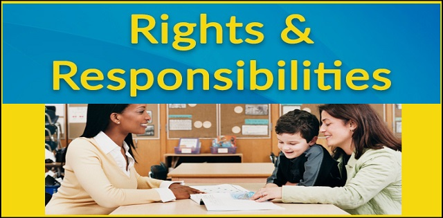 Rights and responsibilities of parents and teachers