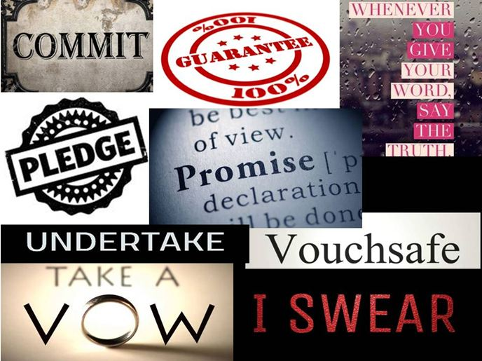 Promise words and phrases