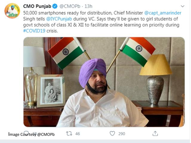 Punjab CM to distribute smartphones