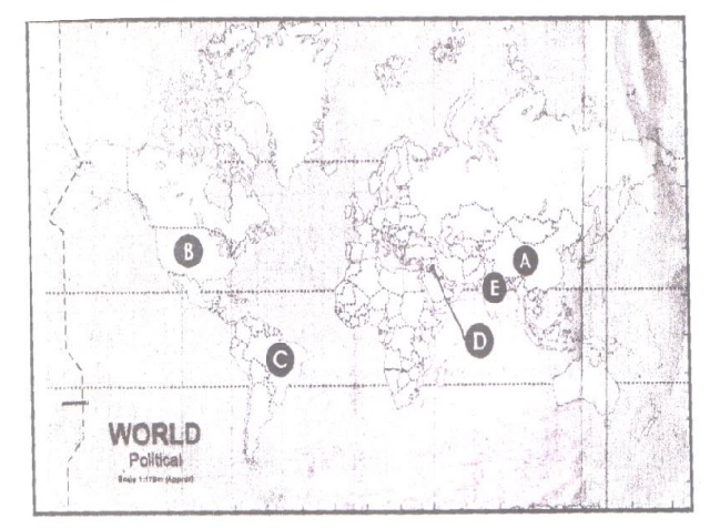 Political Science Map Question 5