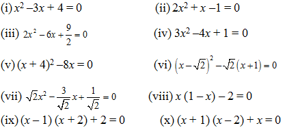Equations with distinct real roots