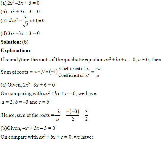 Class 10 Maths chapter 4: NCERT Exemplar Solution (Part-I)