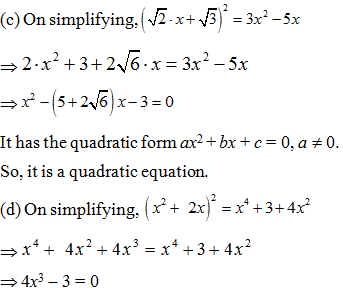 Class 10 Maths chapter 4: NCERT Exemplar Solution (Part-I)