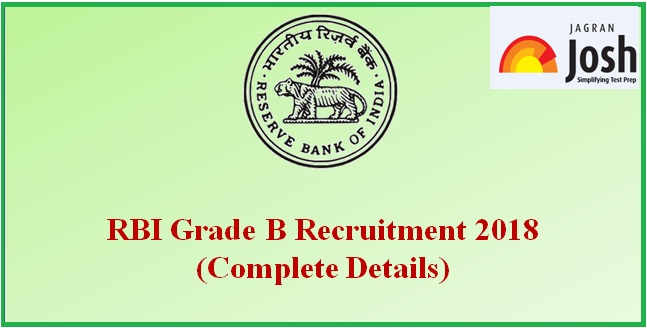 RBI Grade B 2018 Recruitment
