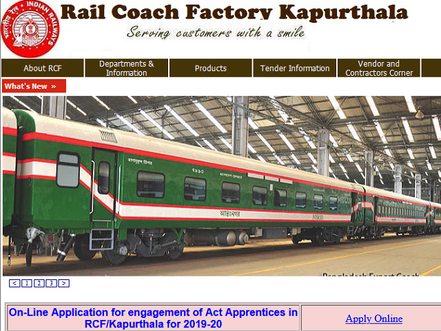 RCF Railway Recruitment 2020