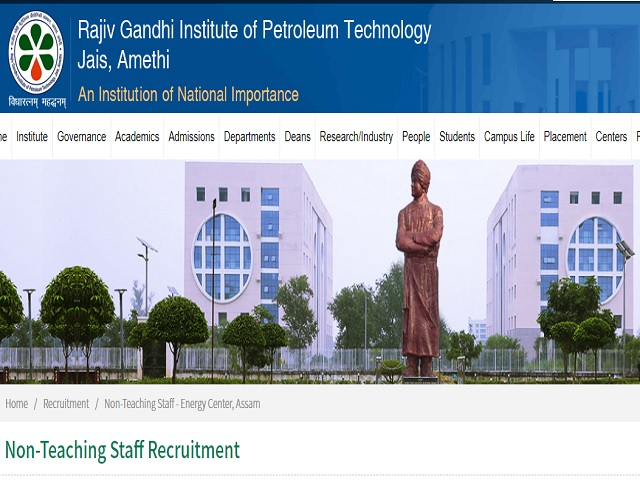 Rajiv Gandhi Institute of Petroleum Technology (RGIPT) Project Assistant Posts 2020