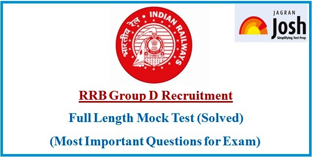RRB Group D Mock Test 2018: Free Practice Test in Hindi, English