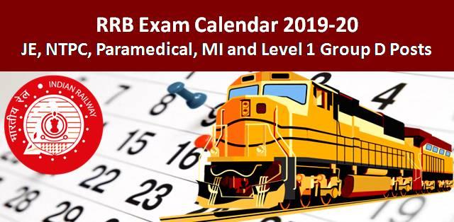 RRB Exam Calendar 2019-2020: Check Exam Dates of RRB NTPC