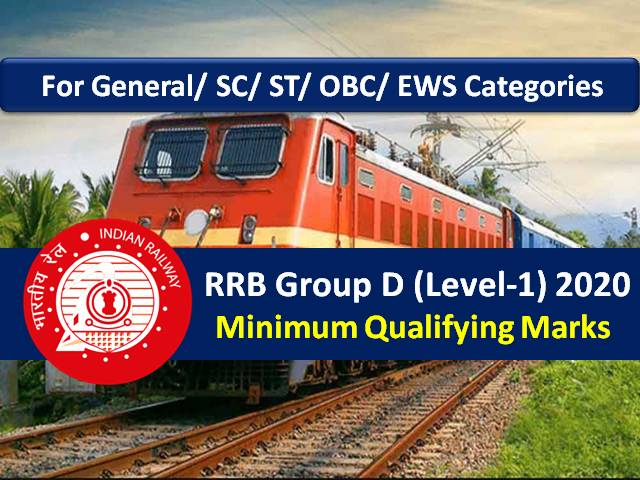 RRB Group D 2020 Exam Update: Categorywise Minimum Qualifying Marks for General/ OBC/ EWS/ SC/ ST Candidates
