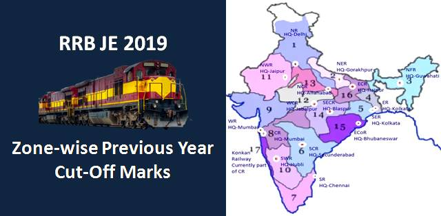 RRB JE Zone-wise Previous Year Cut-Off Marks