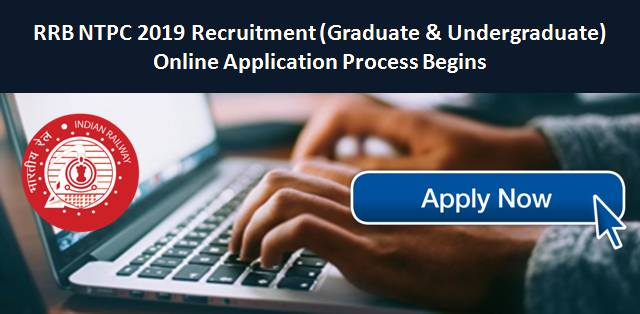 RRB NTPC 2019 Application Process ends on 31st March: Here's