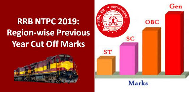 RRB NTPC Region-wise Previous Year Cut Off Marks
