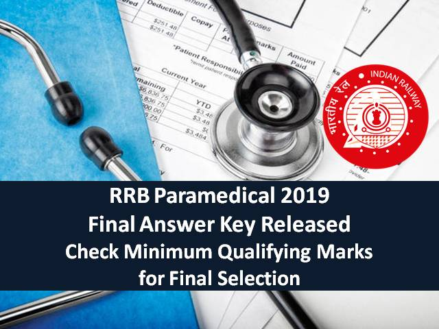 RRB Paramedical 2019: Categorywise Minimum Qualifying marks for Final Selection