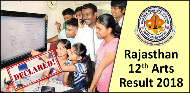 Check 12th Arts Result 2018 and Varistha Upadhayay for RBSE Here