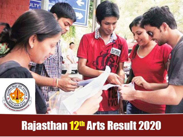 Rajasthan Board 12th Arts Result 2020