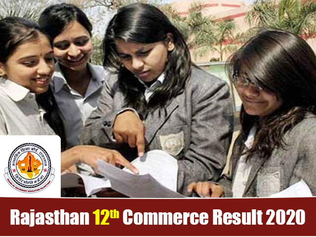 Rajasthan Board 12th Commerce Result 2020