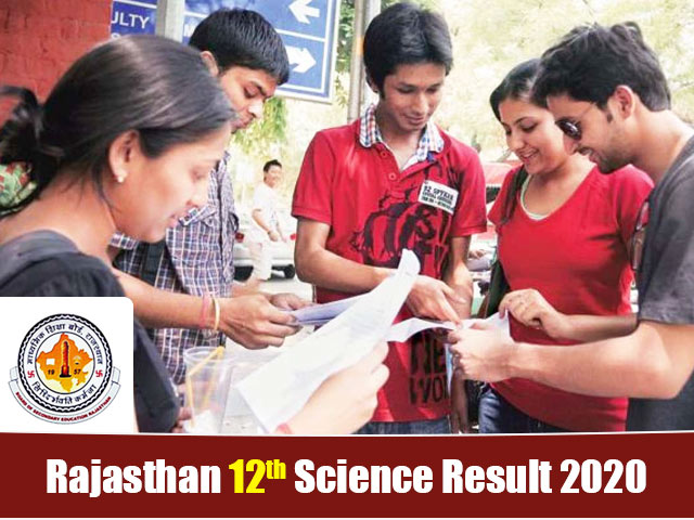 Rajasthan Board 12th Science Result 2020