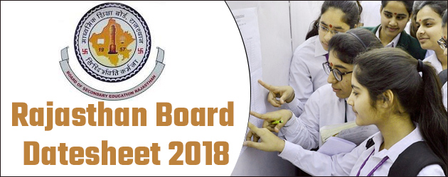 Rajasthan Board Class 10th And 12th Board Examination Datesheets Released