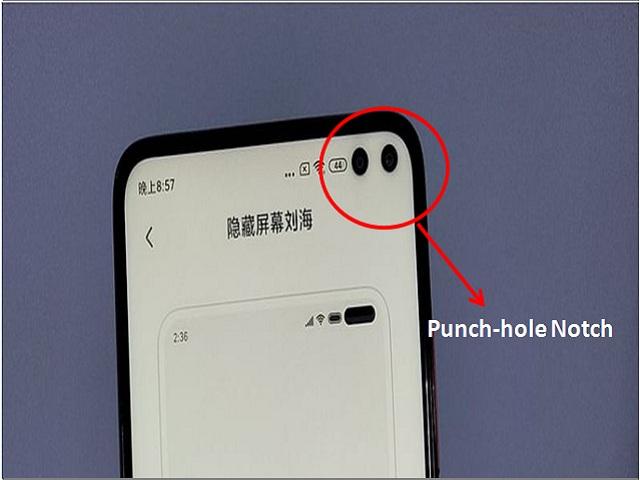 Redmi K30 Punch hole camera