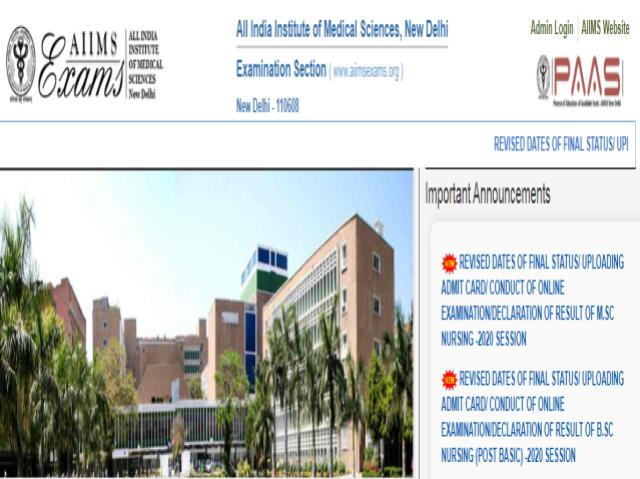 AIIMS 2020 revised schedule