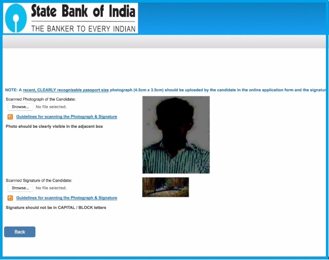 SBI Clerk 2019 Online Application - Page 4