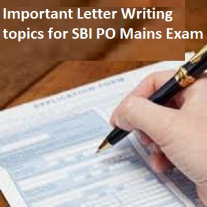 SBI PO Letter writing topics