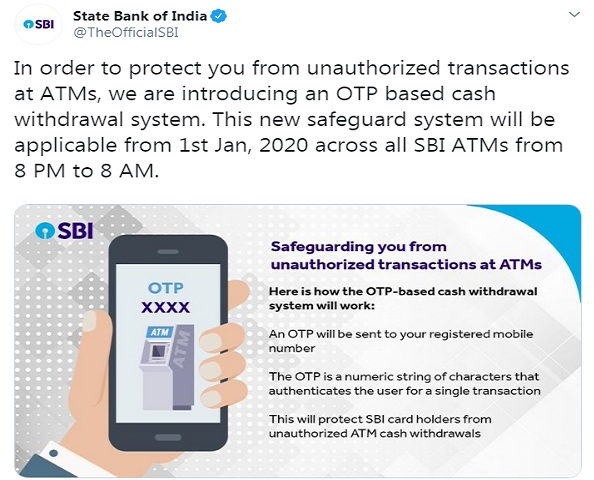 SBI new rules 2020