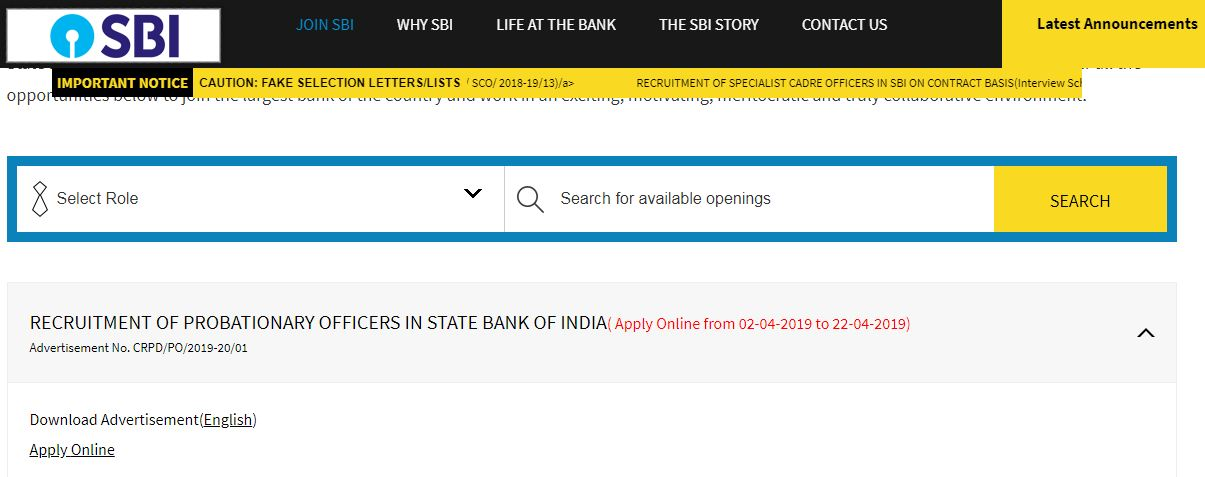 SBI PO 2019: Here's how to Apply Online for 2000 Vacancies!