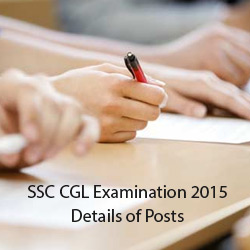 SSC CGL Examination 2015 Details of Posts