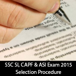 SSC SI CAPF and ASI Exam 2015 Selection Procedure