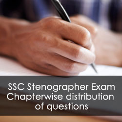 SSC Stenographer Exam: Chapterwise distribution of questions