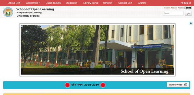 4161295fcfbb7 SOL Admission 2018  DU Open School of Learning admission process to begin  soon, Check details at sol.du.ac.in