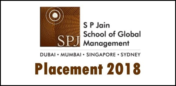 SP Jain School of Global Management Placement 2018