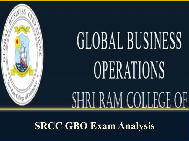 SRCC GBO Exam Analysis 2020