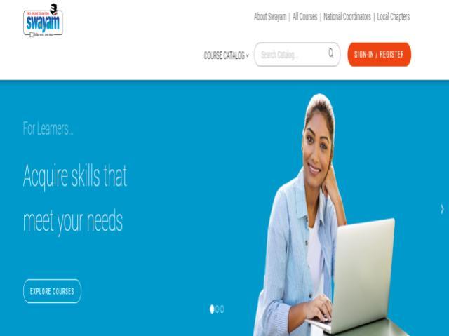 SWAYAM online portal