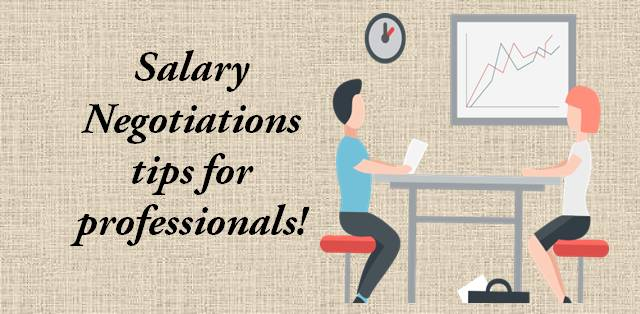 Salary Negotiations tips for professionals