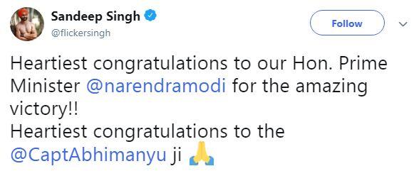 Sandeep Singh Tweet
