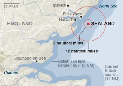 Sealand Map