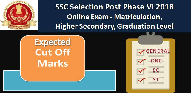 SSC Selection Posts Phase-VI 2018 Expected Cut-Off Marks & Result Date