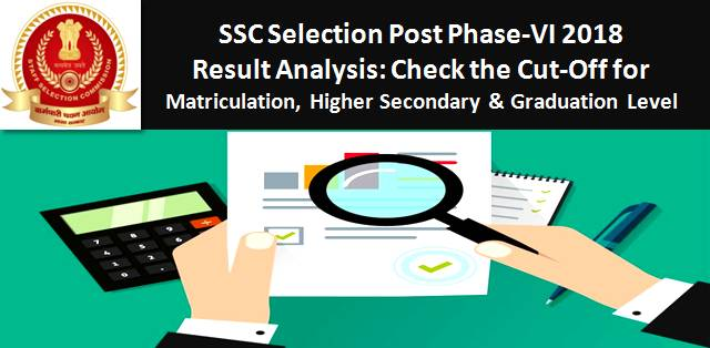 SSC Selection Post Phase-VI 2018 Result Analysis: Check the Cut-Off