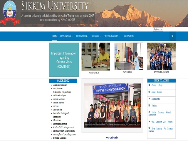 Sikkim University LDC, Technical Assistant and Other Posts 2020